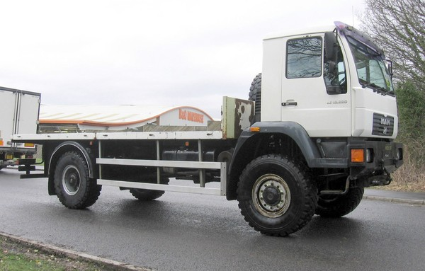 Man 4x4 off road truck