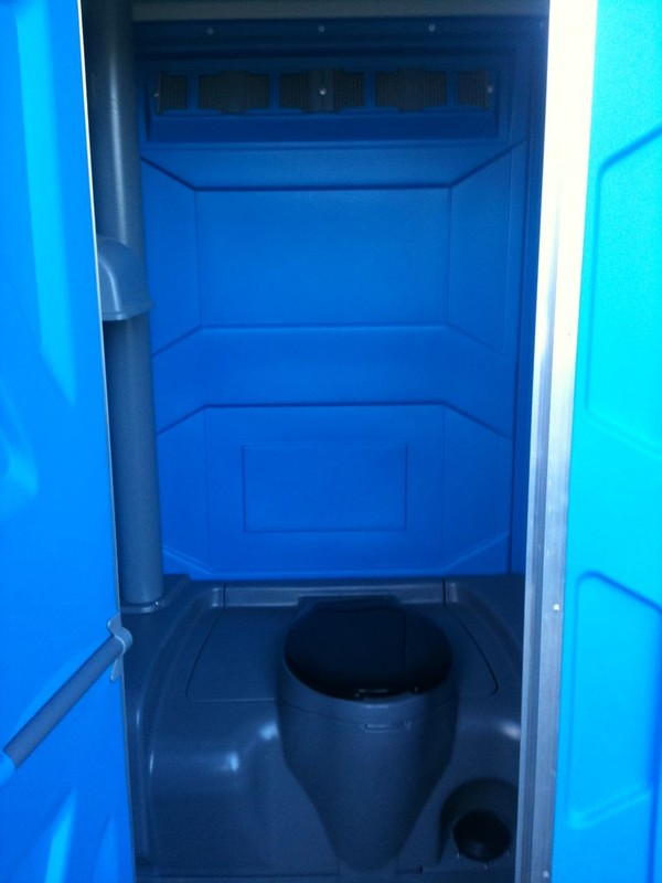 Single Portable Loos in Blue