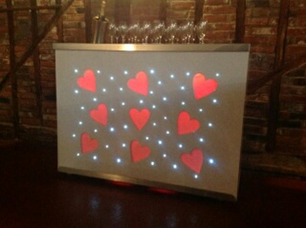 LED champagne bar