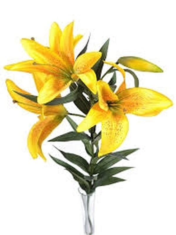 Yellow silk flower stems