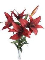 Red silk flower stems