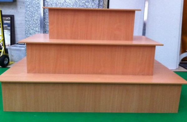Three tier shop display counter