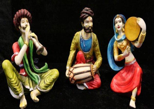 3 Mini Indian Statues