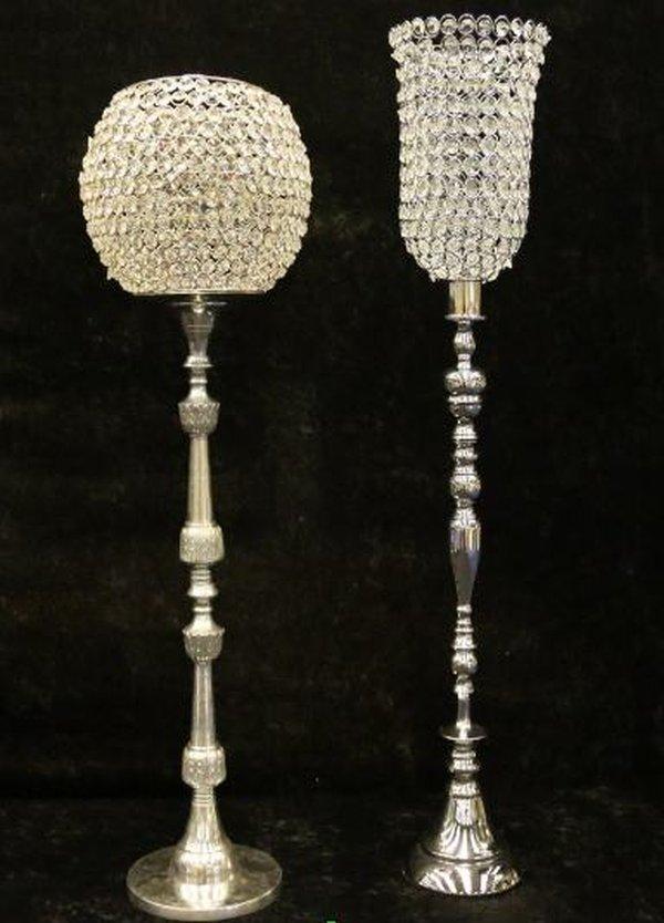 Crystal Hurricane Vases