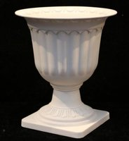 White Floral Urns