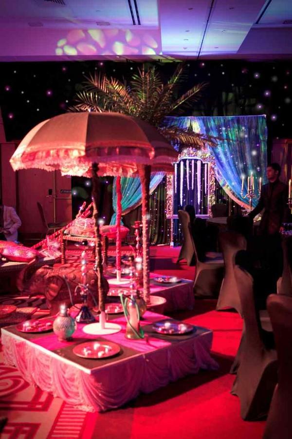 Umbrella table decor