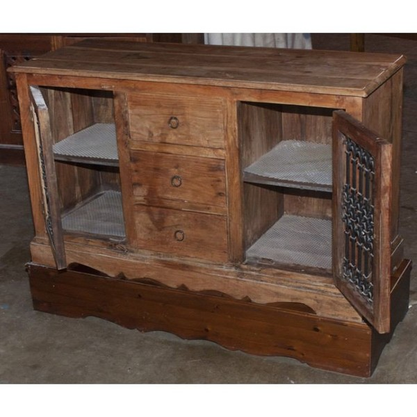 Antique Solid Wood Cabinet with cupboards