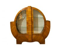 British Art Deco Circular Display Cabinet c.1930