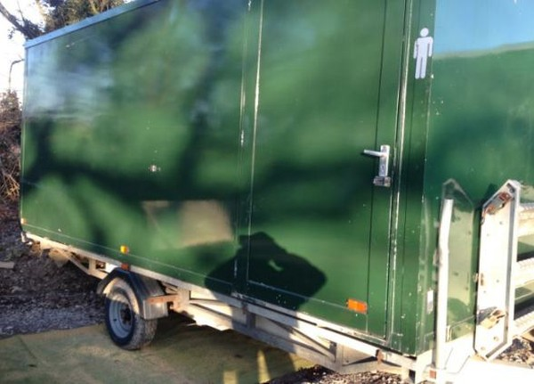 Green urinal toilet trailer