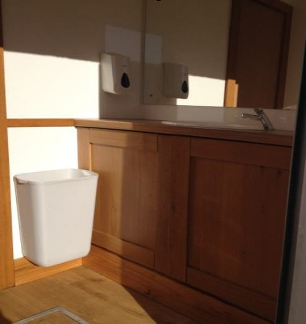 Vanity unit in disabled toilet