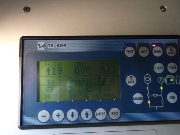 control panel  silent diesel generator