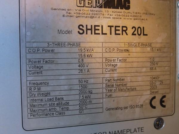 Shelter 20L Generator