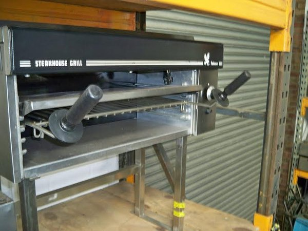 Falcon G1532  Salamander Grill On  Bench Stand