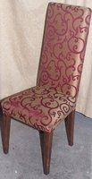 Swirl pattern side chair