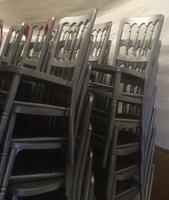 Cheltenham banqueting chairs in silver