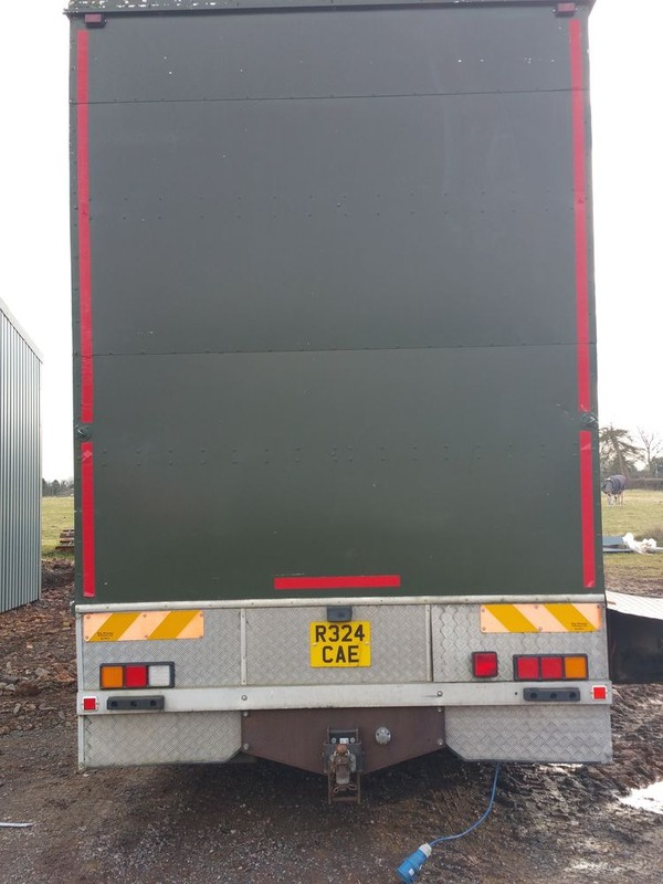Back of fridge and freezer lorry