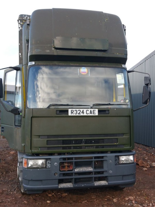 Front of fridge and freezer lorry
