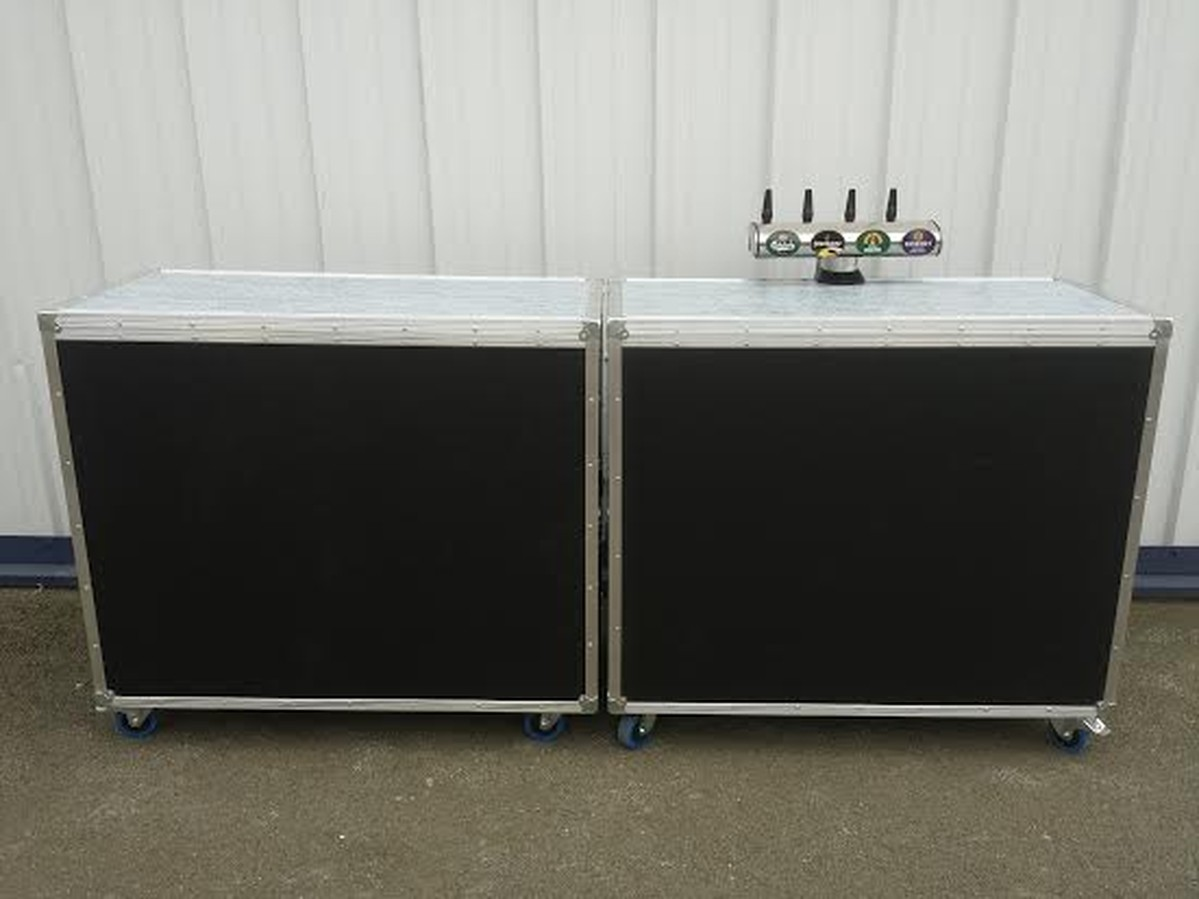 Secondhand Mobile Bar With Dispense System For Sale on Remote Refrigeration Unit System
