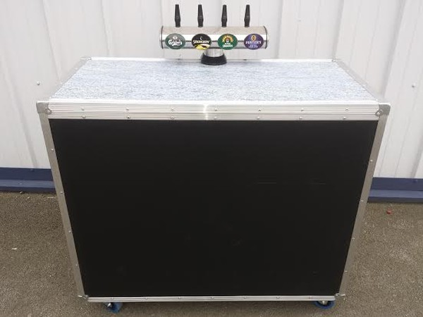 Mobile Bar with Dispense System in Flight Case Style