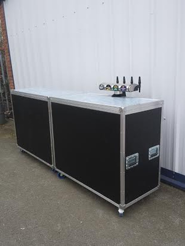 Mobile Bar with Dispense System in Flight Case Style for sale