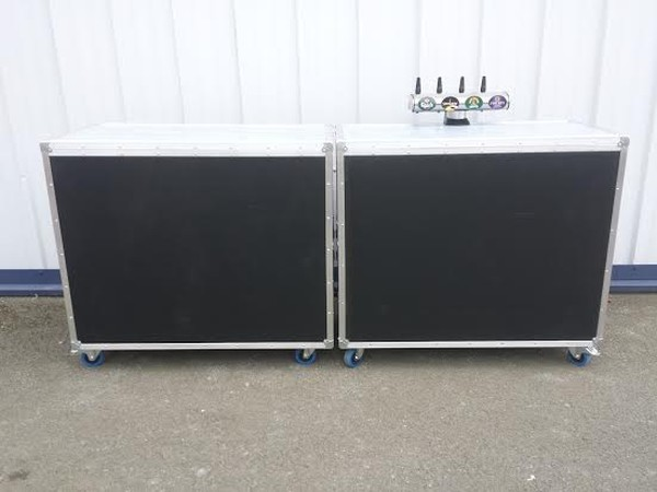 4foot Mobile Bar with shelves