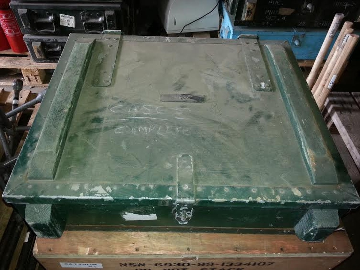 MOD / Army transport boxes Ex Army green boxes ... & Secondhand Plant Tools and Equipment | Containers and Storage | Ex ...