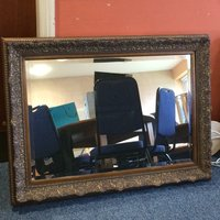 "Large moulded frame mirror 34"" x 44"""