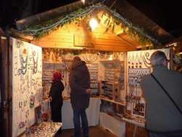 Christmas Wooden Hut With Barn Doors