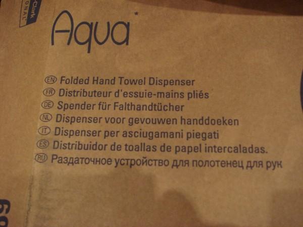 Aqua Paper Hand Towel Dispenser info