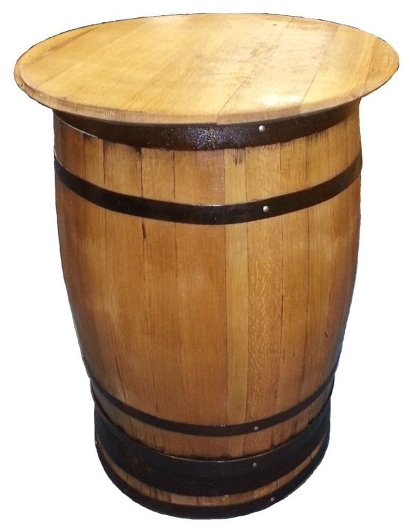 table made from Scottish whisky oak barrels