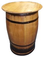 Oak barrel pub table