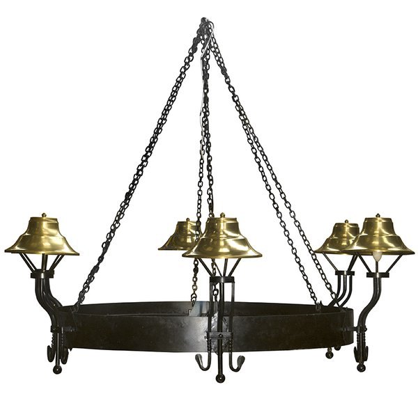 Large Black and Gold Chandelier