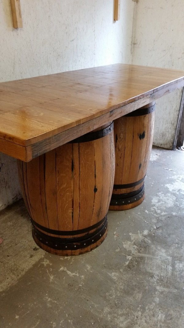 Double Barrel, scottish whisky casks,  Bar Table