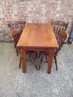 Shaker Leg Beech Top Tables and Farmhouse Chairs