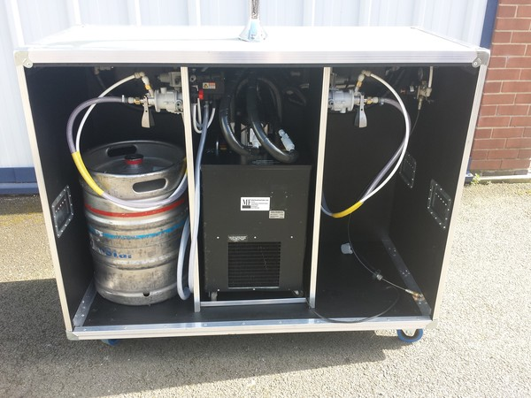 Mobile Bar with dispense system and Mini Remote