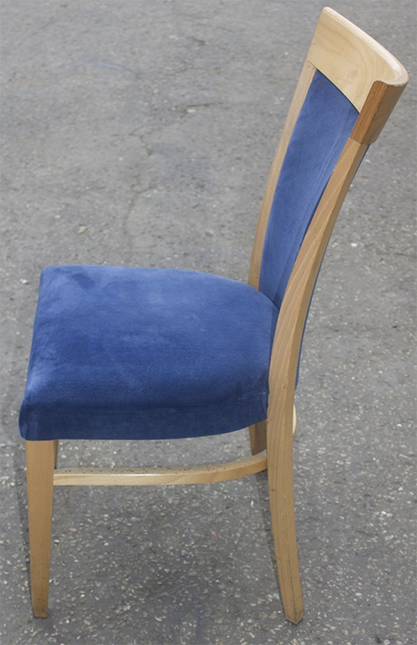 blue upholstered chairs