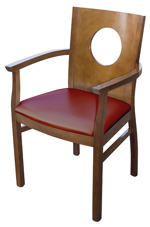 Refurbished Red Carver ArmChairs