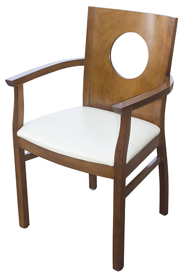 White Carver Arm Chairs