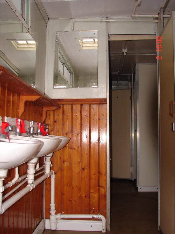 Hand wash area of 3+2 Recirculating Toilet Trailer