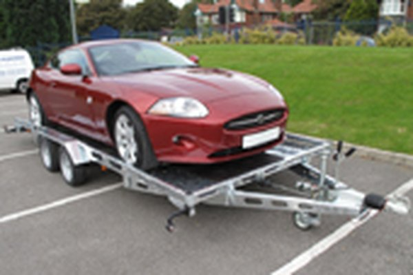 Indispencian 13ft by 7ft car transporter trailer