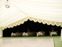 Ivory 12m marquee reveal curtain for sale