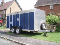 Rare Twin Axle Ifor Williams Box Livestock Trailer TA510G