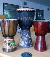 3 African dejembe drums