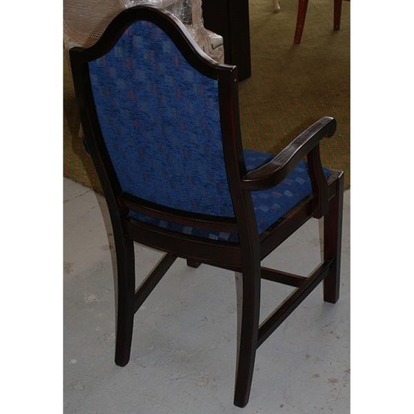 Luxury Refurbished Mahogany Chequered Arm Chair