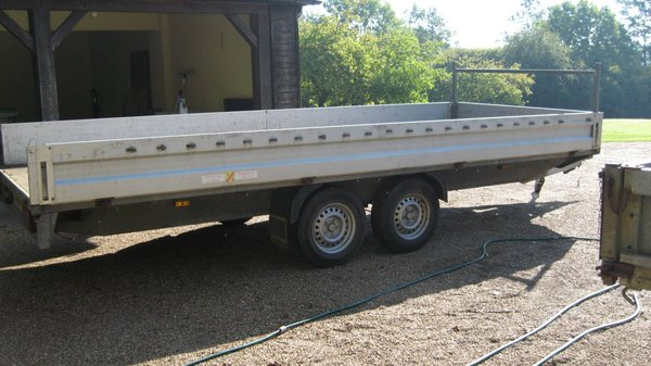 Buy 5m Humbaur Single Axle Trailer