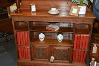 Victorian Oak Carved Bookcase
