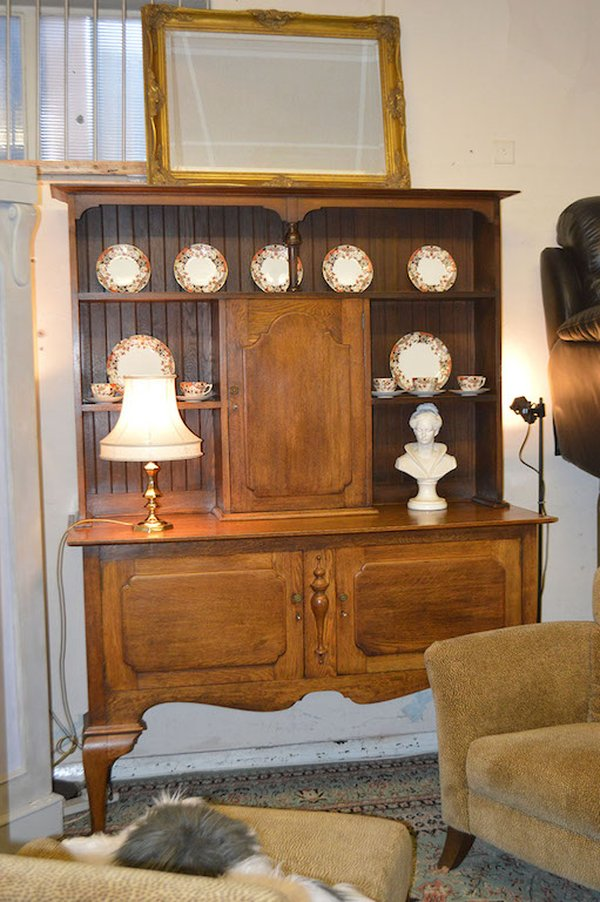 Reproduction Victorian Oak Dresser