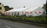 Losburger Clearspan Marquee for sale