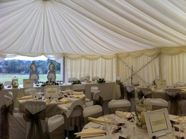5m x 12m framed marquee