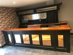 Traditional Style Mahogany Bar Counter and Back Fitting